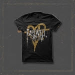 Farewell    My Love Heart Logo Black T-Shirt