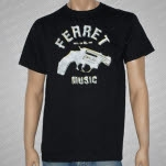 official Ferret Records diamond gun Black T-Shirt