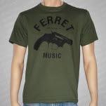 Ferret Records Gun Logo Army Green T-Shirt