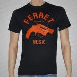 Ferret Records Orange Gun Black T-Shirt