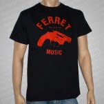 Ferret Records Red Logo Black T-Shirt