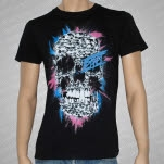 Ferret Records Skull Eyes Black T-Shirt