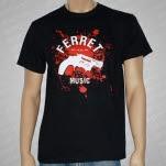 Ferret Records Gun Splatter Black T-Shirt