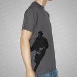 Ferret Records Logo Side Print Gray T-Shirt