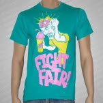 Fight Fair Brain Freeze Teal T-Shirt