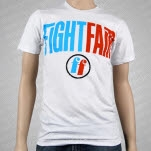 Fight Fair FF Logo White T-Shirt