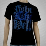 Fight Like Hell Blue Logo T-Shirt