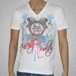 Finding Equality The Key V Neck White T-Shirt