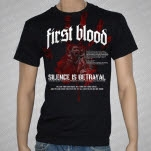 official First Blood Blood On Our Hands Black T-Shirt