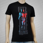 Fitz and The Tantrums Vertical Logo Black T-Shirt