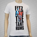 Fitz and The Tantrums Vertical Logo White T-Shirt