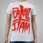 For All I Am Bolt Logo White T-Shirt