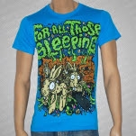 For All Those Sleeping Bunnies Teal T-Shirt