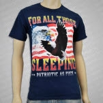 For All Those Sleeping Patriotic As Fuck Navy T-Shirt