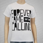 Forever Came Calling Stack White T-Shirt