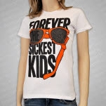 Forever The Sickest Kids Broken Sunglasses White Girls T-Shirt