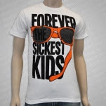 Forever The Sickest Kids Broken Sunglasses White T-Shirt