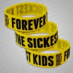 Forever The Sickest Kids Logo Yellow Wristband