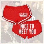 Forever The Sickest Kids Nice To Meet You Red Track Shorts