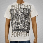 Forfeit Stacked Logos Natural T-Shirt