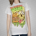 For The Fallen Dreams Death Burger White T-Shirt