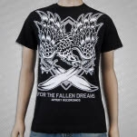 For The Fallen Dreams Eagle And Swords Black T-Shirt