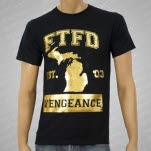 For The Fallen Dreams Michigan Gold Foil Black T-Shirt