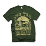For The Fallen Dreams Skull Army Green T-Shirt
