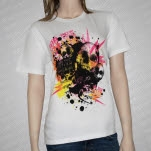 For The Fallen Dreams Splatter Skulls T-Shirt