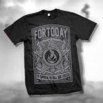 For Today Flame Black T-Shirt