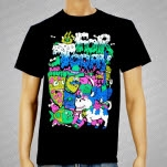 For Today Food Fight Black T-Shirt