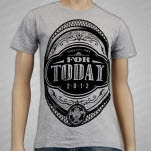 For Today Oval Crest Heather Grey T-Shirt