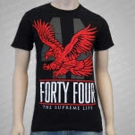 Forty Four EAGLE Black T-Shirt