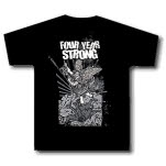 Four Year Strong Angel Black T-Shirt