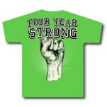 Four Year Strong Fist Green T-Shirt