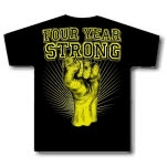Four Year Strong Gold Fist Black T-Shirt