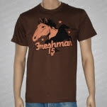 Freshman 15 Pony Up Brown T-Shirt