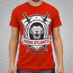 From Atlantis Lion Shield Red T-Shirt