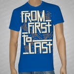 From First To Last Electronics Royal Blue T-Shirt