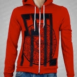 From First To Last Pentagram Red Hoodie Zip