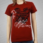 Gatsbys American Dream We Hate Music Girls Maroon Tee Girls T-Shirt