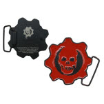 Gears Of War Crimson Logo Buckle