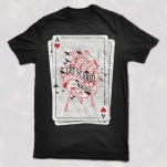 Get Scared Ace Card Black T-Shirt