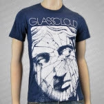Glass Cloud Broken Face Heather Navy T-Shirt