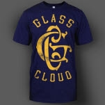 official Glass Cloud Stressed GC Navy T-Shirt