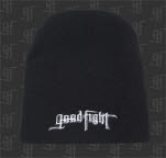 Good Fight Entertainment Ribbon Logo Black Winter Beanie