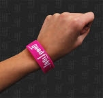 Good Fight Entertainment Worth Fighting For Pink Wristband
