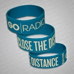 Go Radio Close The Distance Turquoise Wristband
