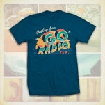 Go Radio Postcard Blue T-Shirt