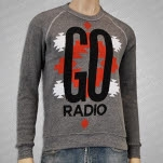 Go Radio Pattern Heather Grey Crewneck Sweatshirt